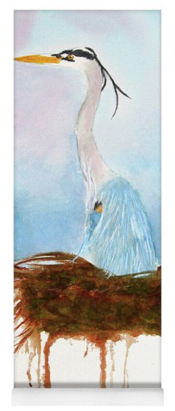 Blue Heron Nesting Yoga Mat
