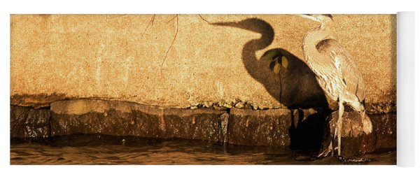 Blue Heron Shadow Yoga Mat