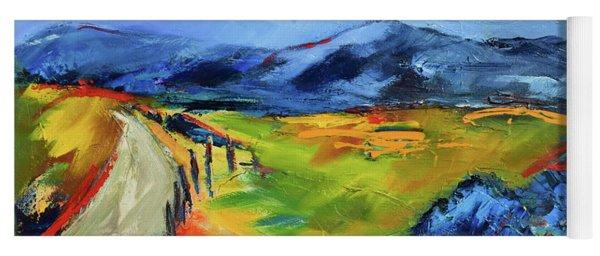 Blue Hills By Elise Palmigiani Yoga Mat
