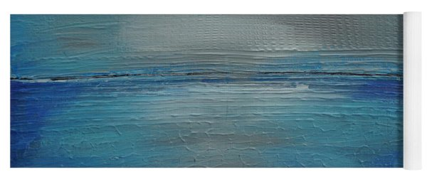 Yoga Mat featuring the painting Blue Horizon by Jimmy Clark