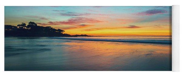 Blue Hour At Carmel, Ca Beach Yoga Mat