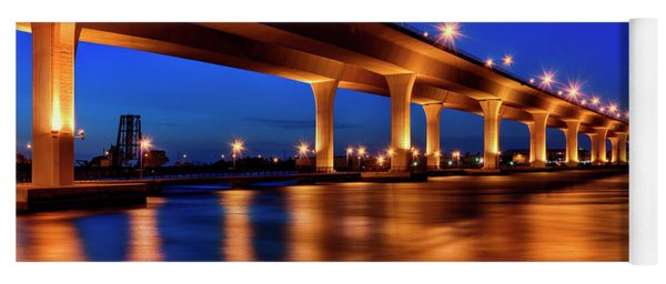 Blue Hour At Roosevelt Bridge In Stuart Florida  Yoga Mat