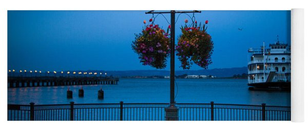 Blue Hour At The Waterfront Yoga Mat