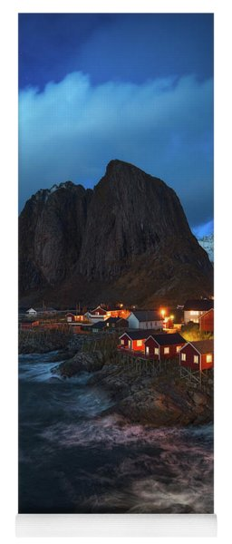 Blue Hour In Lofoten Yoga Mat