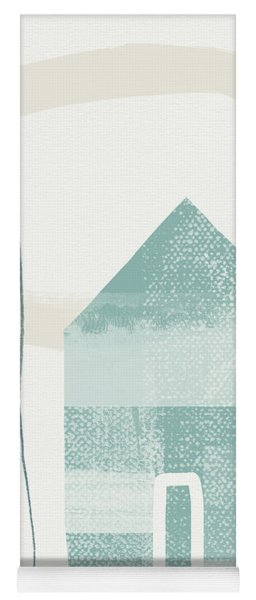 Blue House In Moonlight- Art By Linda Woods Yoga Mat