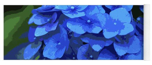 Blue Hydrangea Stylized Yoga Mat