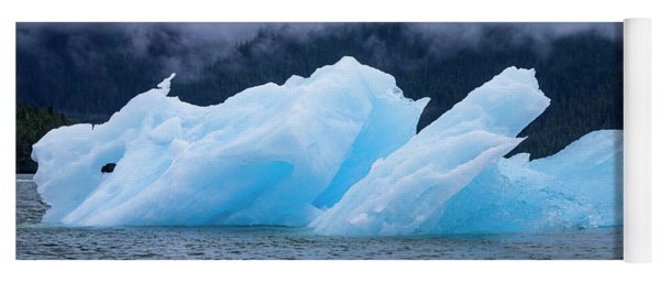 Blue Iceberg Yoga Mat