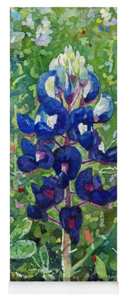 Blue In Bloom 2 Yoga Mat