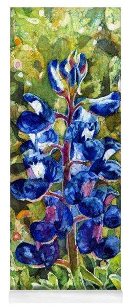 Blue In Bloom Yoga Mat