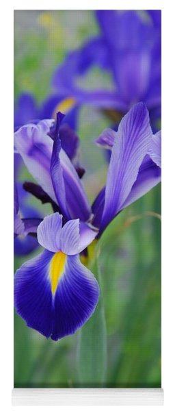 Blue Iris Flower Yoga Mat