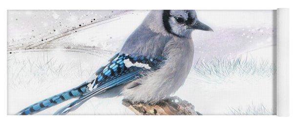 Blue Jay Snow Yoga Mat
