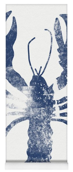 Blue Lobster- Art By Linda Woods Yoga Mat