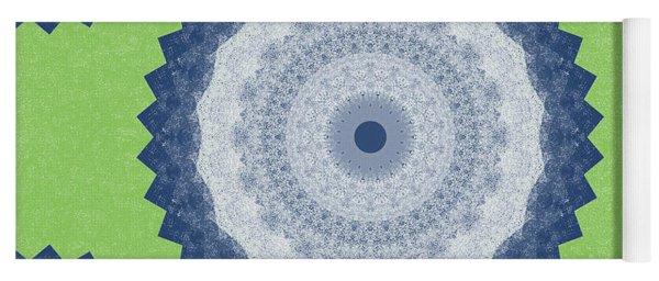Blue Mandala- Art By Linda Woods Yoga Mat