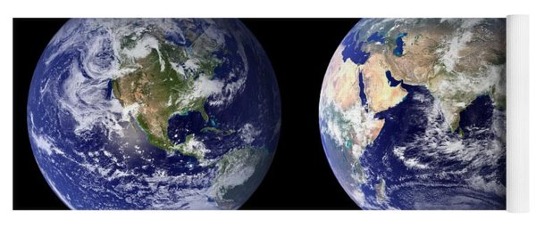 Blue Marble Composite Images Generated By Nasa Yoga Mat