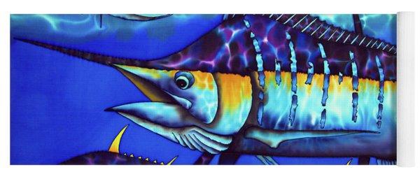 Blue Marlin Fish Yoga Mat