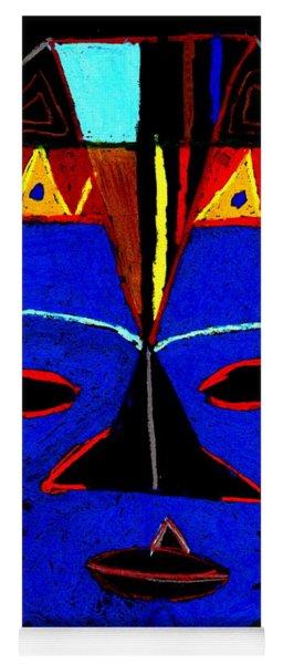 Blue Mask Yoga Mat