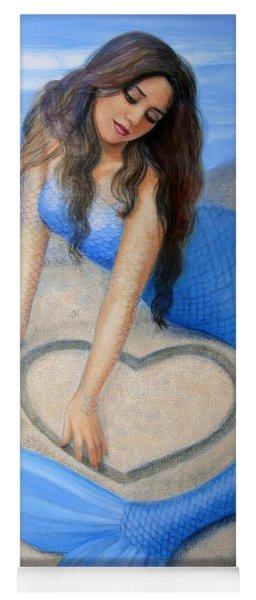 Blue Mermaid's Heart Yoga Mat