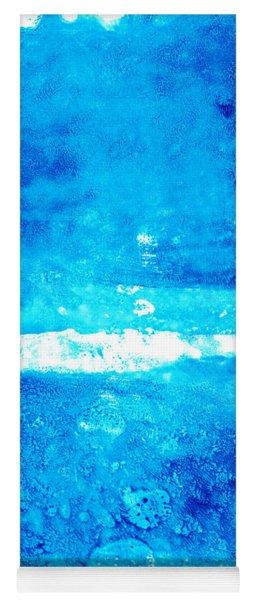 Blue Modern Art - Two Pools - Sharon Cummings Yoga Mat