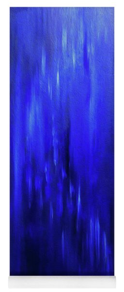 Blue Moment Meets Winter Evening Yoga Mat