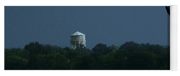Blue Moon Over Zanesville Water Tower Yoga Mat