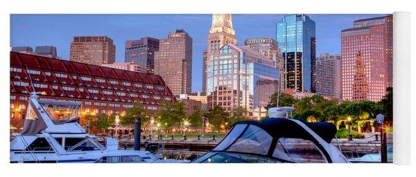 Blue Morning On Boston Harbor Yoga Mat