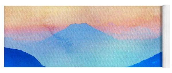 Blue Mountains Watercolour Yoga Mat