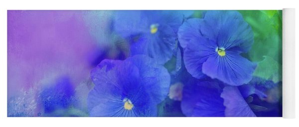 Blue Pansies Yoga Mat