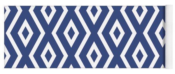 Blue Pattern Yoga Mat