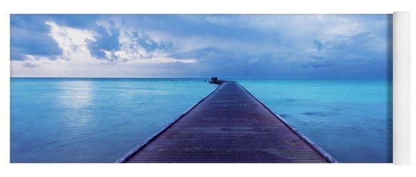 Blue Pier Two Yoga Mat