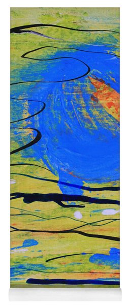 Blue Planet Abstract Yoga Mat