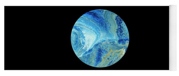 Blue Planet On Black Yoga Mat