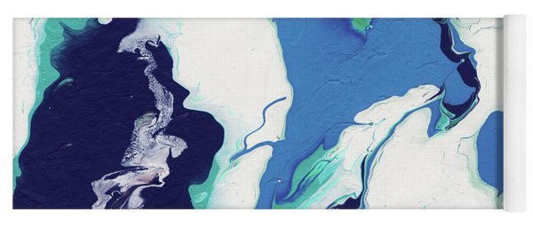 Blue Rhapsody- Art By Linda Woods Yoga Mat