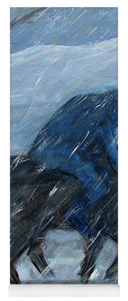 Blue Rider On Horse Yoga Mat