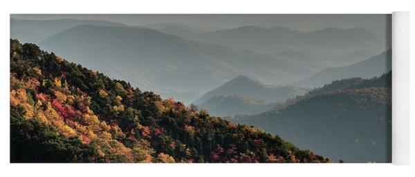 Blue Ridge Autumn Yoga Mat