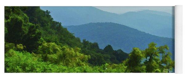 Blue Ridge Mountain Layers Yoga Mat