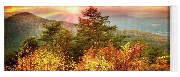 Blue Ridge Mountains In Autumn Yoga Mat