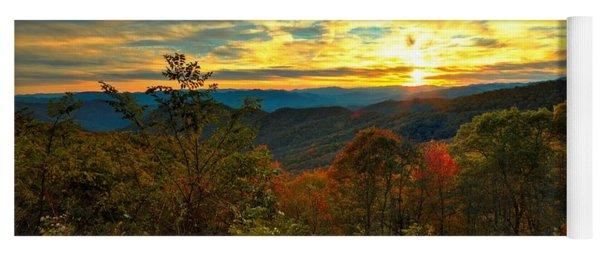 Blue Ridge Sunsets Yoga Mat