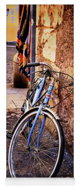 Blue Rome Bicycle Yoga Mat