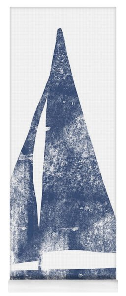 Blue Sail Boat- Art By Linda Woods Yoga Mat