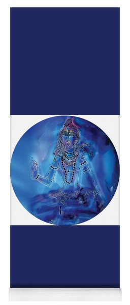 Blue Shiva  Yoga Mat