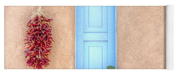 Blue Shutters And Chili Peppers Yoga Mat
