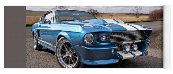 Blue Skies Cruising - 1967 Eleanor Mustang Yoga Mat