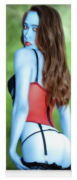 Blue Skinned Vixen Yoga Mat