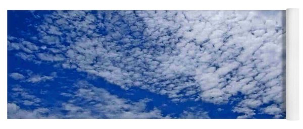 Blue Sky With Clouds Yoga Mat
