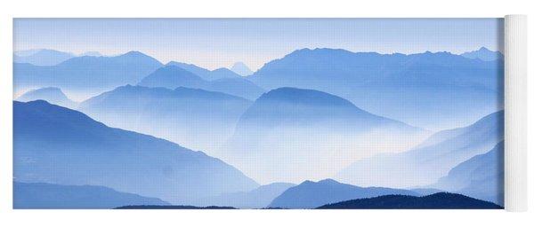 Blue Smoky Mountains Yoga Mat