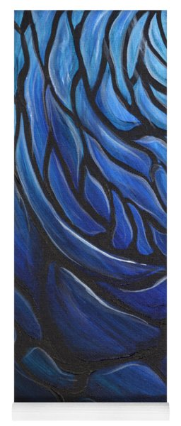Blue Stained Glass Yoga Mat