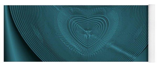 Yoga Mat featuring the digital art Blue Steel Heart by Visual Artist Frank Bonilla