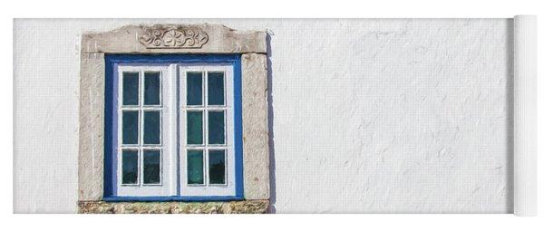 Blue Stone Window Of Obidos Yoga Mat