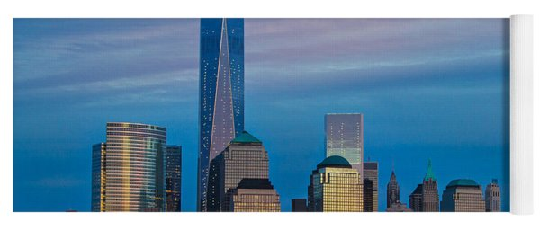 Blue Sunset At The World Trade Center Yoga Mat