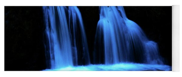 Yoga Mat featuring the photograph Blue Waterfall by Michael Cross